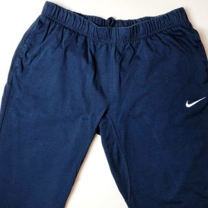 Nike Navy Blue Workout Pants 100% Cotton. Size L